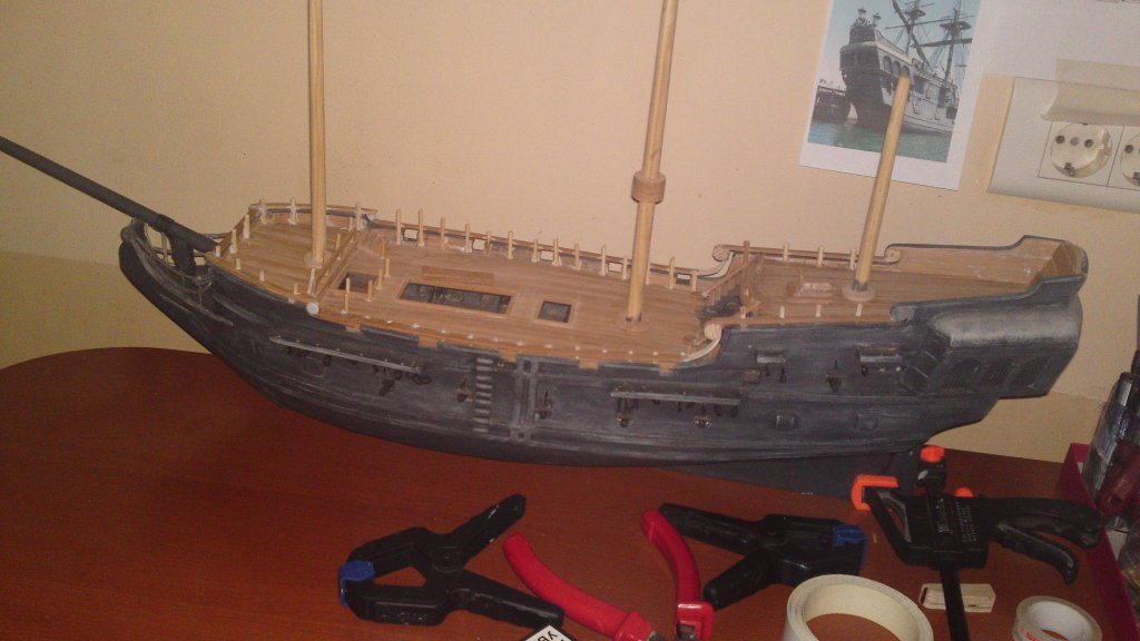 Корабль из дерева своими руками черная жемчужина 1