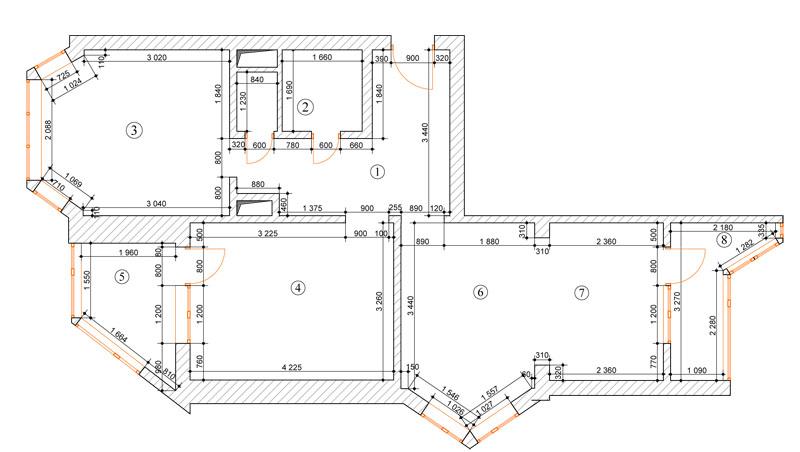 Дизайн двушки распашонки в п44т