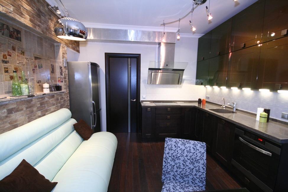 Дизайн кухни 12 кв.м с эркером