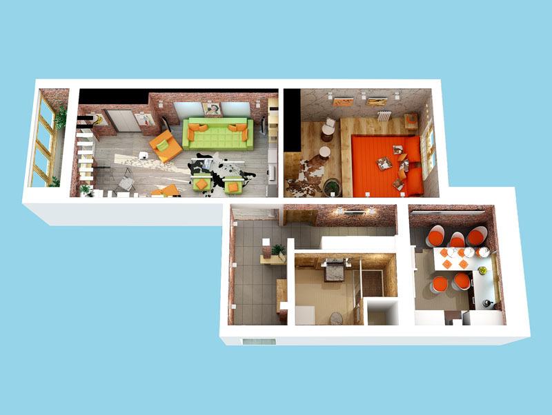 Дизайн проект 2-х комнатной квартиры копэ м