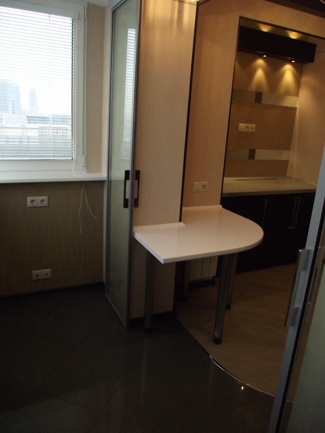 Объединение кухни с балконом: 11 тыс... / интерьер / идеи дл.