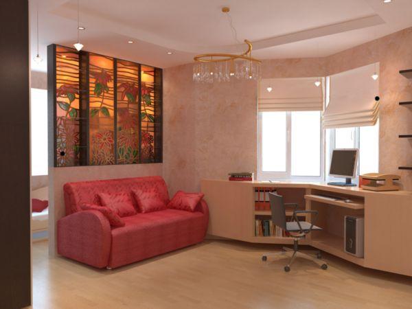 Дизайн комнаты с эркером п44т.