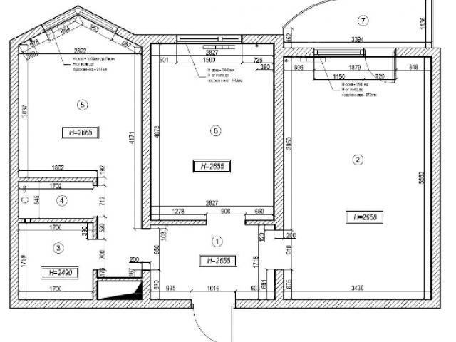 Дизайн комнаты в доме п44т с балконом..
