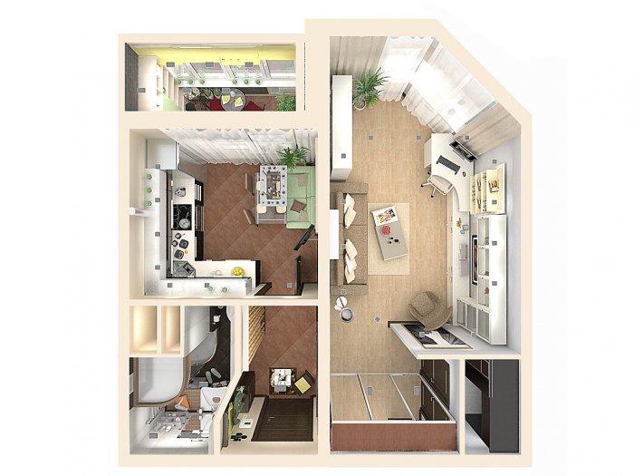 Дизайн квартиры серии копэ