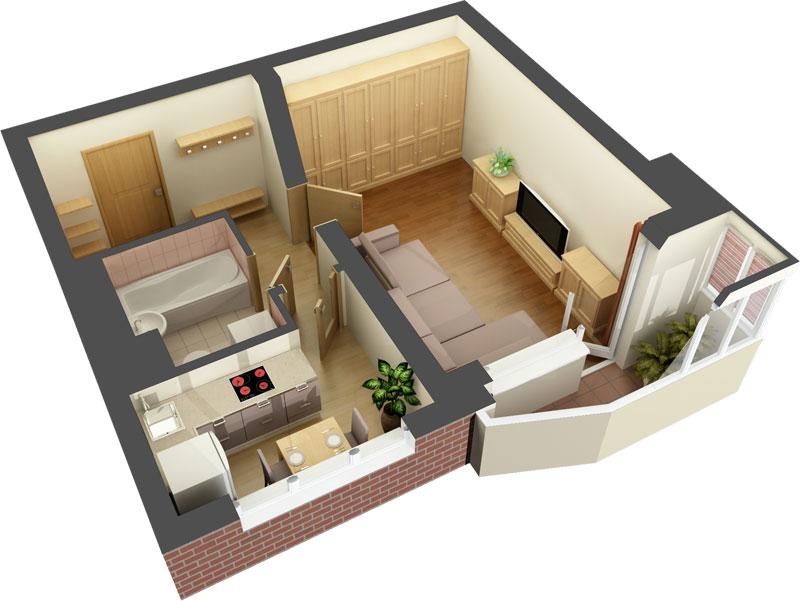 Дом 60 квадратных метров своим рукам