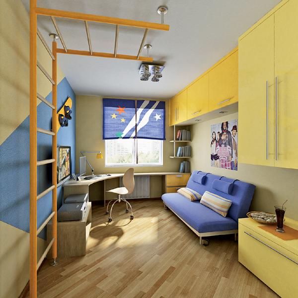 Узкая детская комната фото